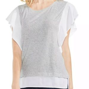 NWT Vince Camuto Flutter Sleeve Top